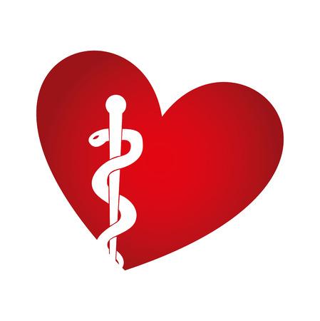 heart with medical symbol vector illustration design