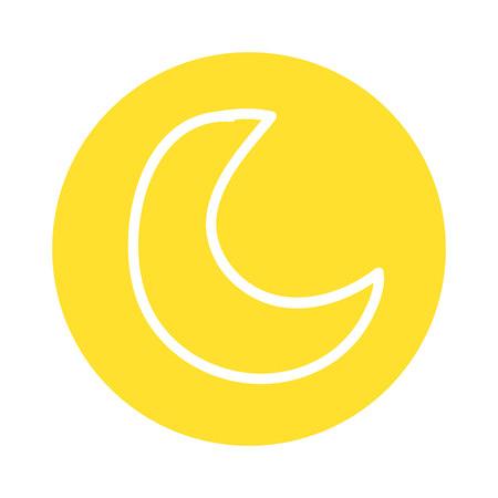 cute moon isolated icon vector illustration design