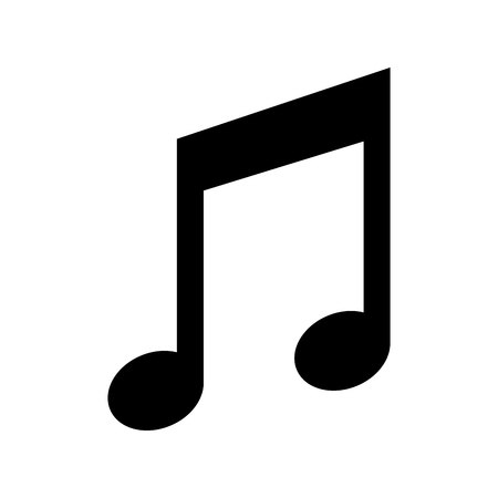 music note isolated icon vector illustration design Stock Vector - 120354375