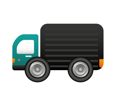 truck vehicle delivery service vector illustration design Stock Illustratie