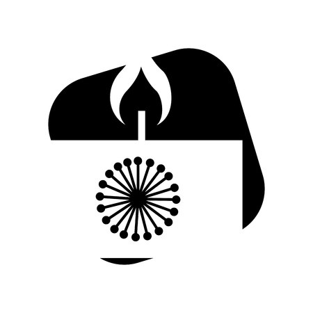 candle flame spa isolated icon vector illustration design Illustration