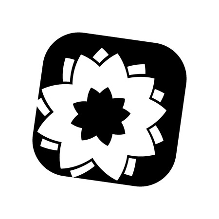 floral flower spa isolated icon vector illustration design Illustration