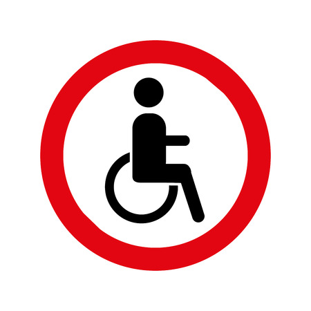 Pedestrian silhouette sign isolated icon vector illustration design Banque d'images - 123939553