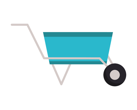 wheelbarrow construction tool on white background vector illustration design  イラスト・ベクター素材