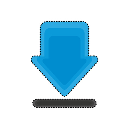 arrow download isolated icon vector illustration design