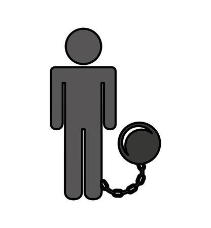 prisoner avatar silhouette icon vector illustration design Stockfoto - 120421052