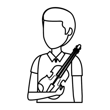 professional violinist avatar character vector illustration design Illustration