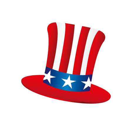 usa hat isolated icon vector illustration design Ilustrace