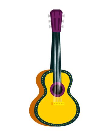 acoustic guitar instrument icon vector illustration design Çizim
