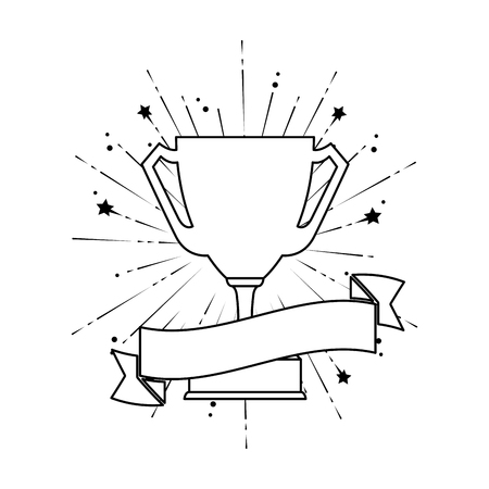 trophy cup award icon vector illustration design 스톡 콘텐츠 - 123940179