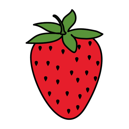 strawberry fresh fruit icon vector illustration design