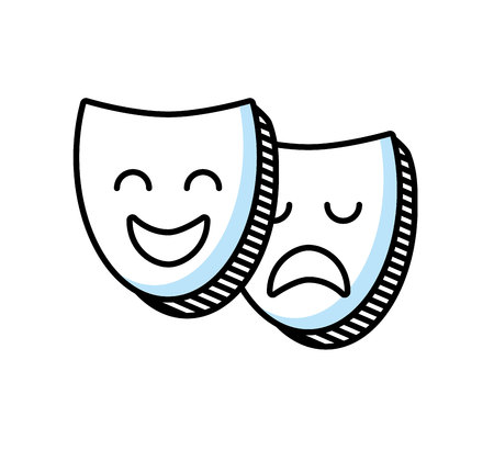 theater mask classic icon vector illustration design 向量圖像