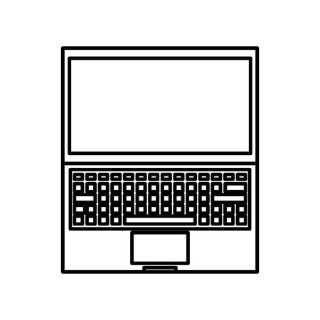 laptop computer isolated icon vector illustration design Stock Vector - 123873411