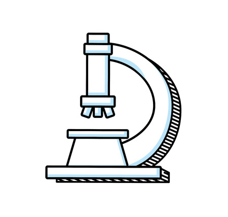 microscope laboratory isolated icon vector illustration design Vectores