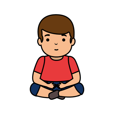 young man seated avatar character vector illustration design Ilustração
