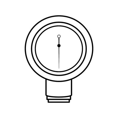 Blood pressure gauge isolated icon vector illustration design