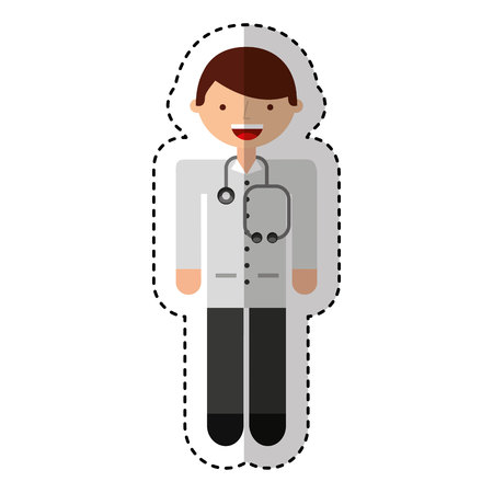 doctor avatar character icon vector illustration design Иллюстрация