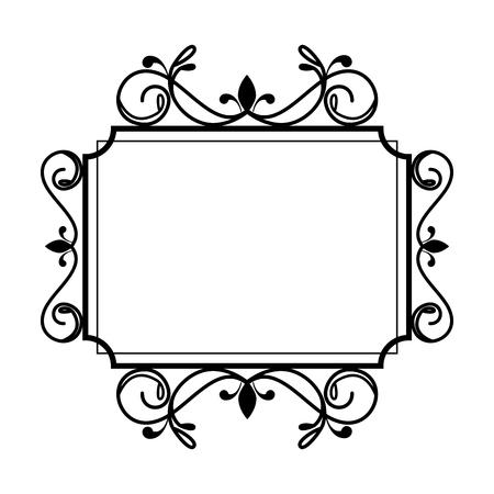 quadratisches Etikett im viktorianischen Stil Vektor-Illustration-Design
