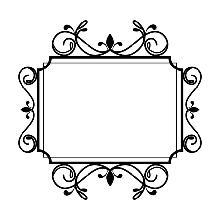 square label victorian style vector illustration design