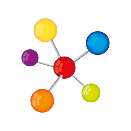 molecule structure isolated icon vector illustration design Ilustração