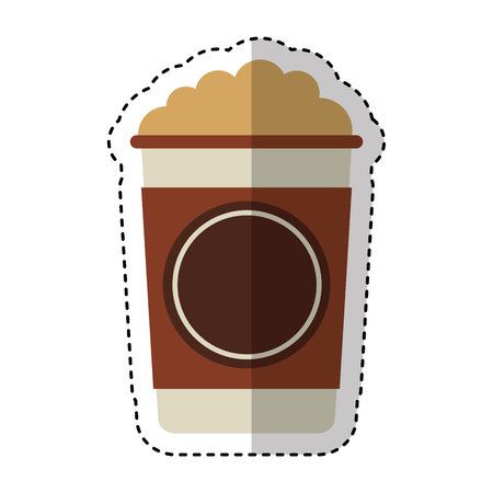 coffee glass drink isolated icon vector illustration design Vetores