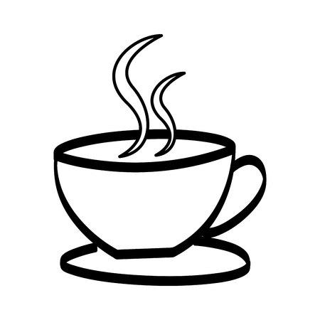 Tasse à café verre isolé conception d'illustration vectorielle icône