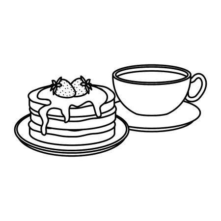 delicious breakfast menu icons vector illustration design Banco de Imagens - 120448747