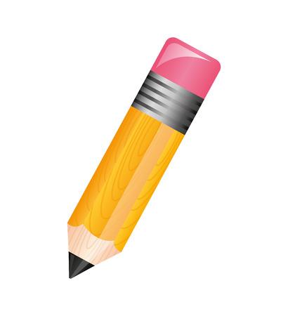 Diseño de ilustración de vector de icono aislado de suministro de escuela de lápiz Ilustración de vector