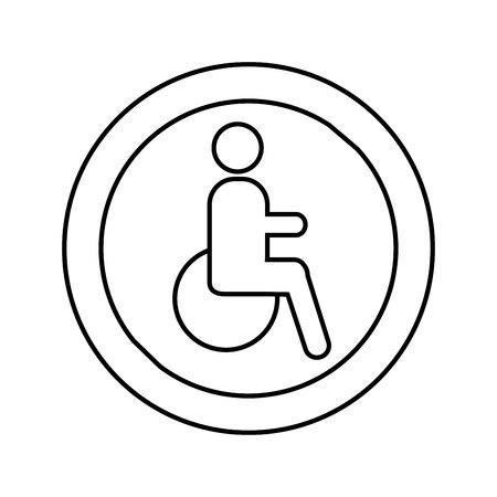 Pedestrian silhouette sign isolated icon vector illustration design Foto de archivo - 123873944