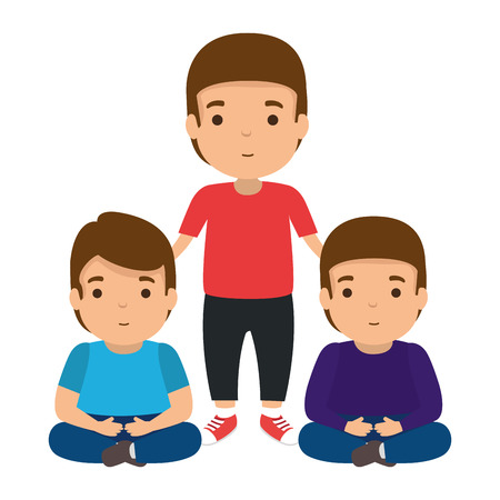 father with sons characters vector illustration design Stock Vector - 120458279