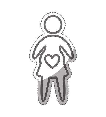 woman pregnancy silhouette isolated icon vector illustration design Illustration