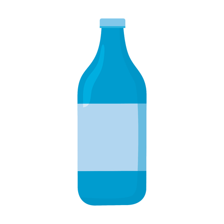 water bottle icon on with background vector illustration