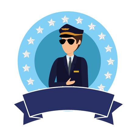 aviation pilot avatar character vector illustration design Archivio Fotografico - 123874310