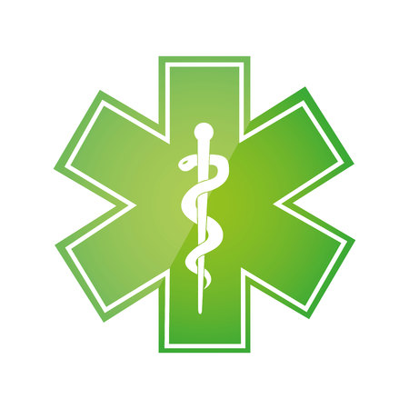 caduceus symbol isolated icon vector illustration design