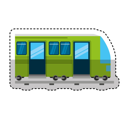 tram transport isolated icon vector illustration design Zdjęcie Seryjne - 123874396