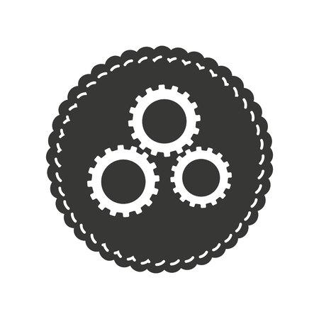 gears machine isolated icon vector illustration design Zdjęcie Seryjne - 120474984