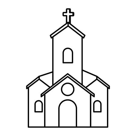church facade building icon vector illustration design 일러스트