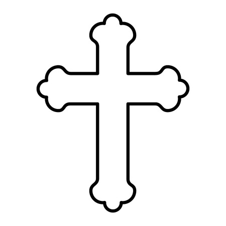 first communion wooden cross vector illustration design
