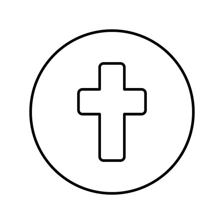 first communion cross icon vector illustration design Illustration