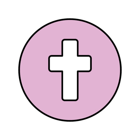 first communion cross icon vector illustration design Ilustração