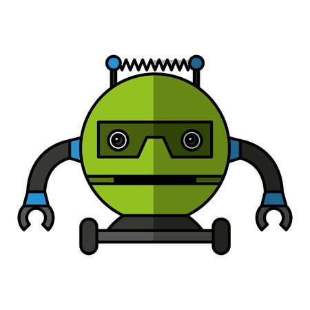 electric robot avatar character vector illustration design