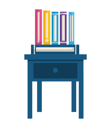 books on bedside table icon vector illustration design