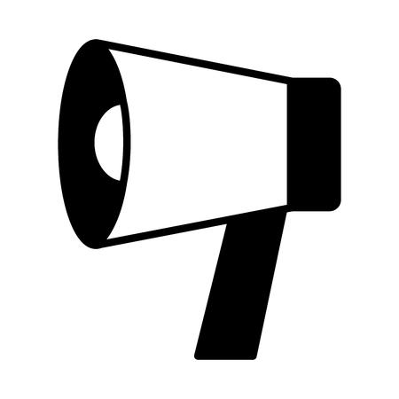 megaphone loudspeaker announcement icon vector illustration design Illustration