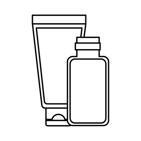 cosmetics tube spa treatment therapy vector illustration