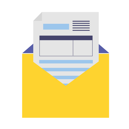 mail document tax report vector illustration design