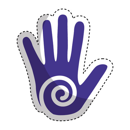 hand human print paint vector illustration design