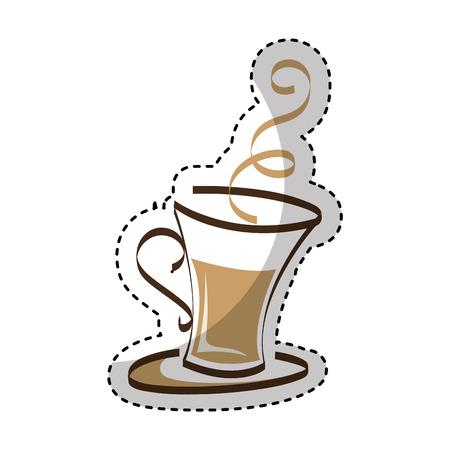 coffee cup drink isolated icon vector illustration design Ilustração