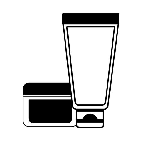 cosmetic lotion cream skin care vector illustration design