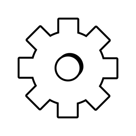 gear tool icon on white background vector illustration