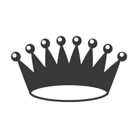 crown royalty jewelry on white background vector illustration Imagens - 120749401